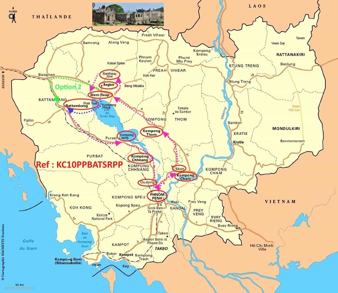 Plan-map du Cambodg cambodge plan